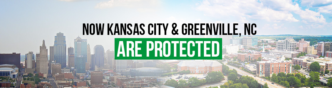 Now Kansas City and Greenvile, North Carolina Are Protected